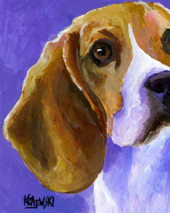 Beagle Wall Art Beagle Memorial Beagle Dog Art Print Of