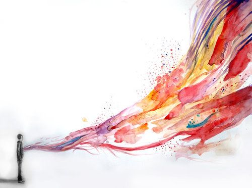 His soul is spilling out.: Heart, Art Paintings, Art Inspiration, Beautiful, Life Art, Soul Search, Art Attack, Add Color, Feelings
