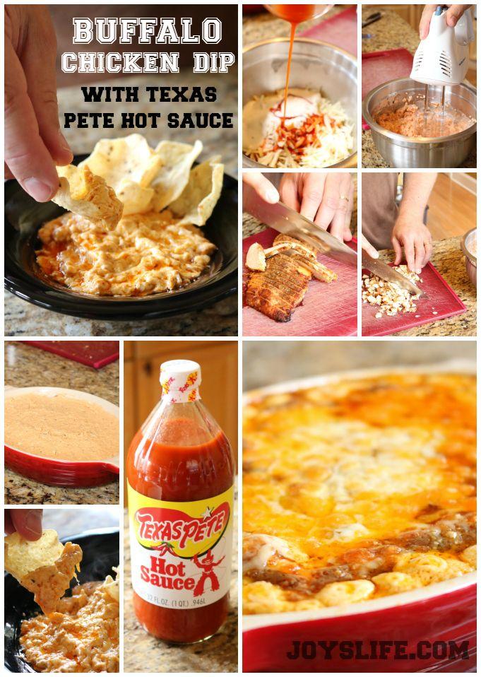 Buffalo Chicken Dip Recipe with Texas Pete Hot Sauce