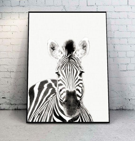 Zebra Print Nursery PrintsBlack and White от YourPrintsShop
