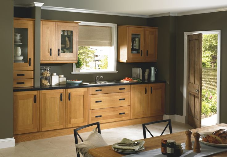 kitchen colors with pine cabinets - Google Search