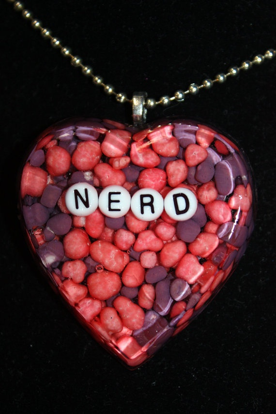 Nerd Candy Heart Resin Pendant Necklace  Aull by AullAboutYou, $16.00