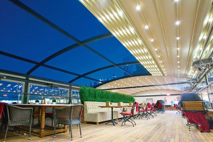 Pergotenda chiusa con vetrate scorrevoli panoramiche - una soluzione  per il tuo ristorante, casa o albergo .  .Venite a trovarci in fiera 13-15 ottobre 2016 Italy - Rimini Fiera, Expo Centre Padiglione B3 - Stand 066-069