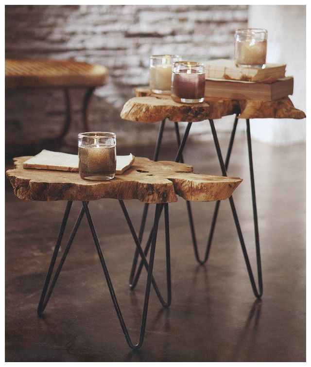 tree stump table top - Google Search