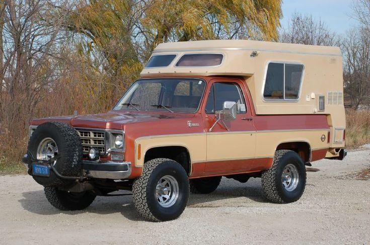 Chevrolet Fiberglass Camper Vintage Classic Truck