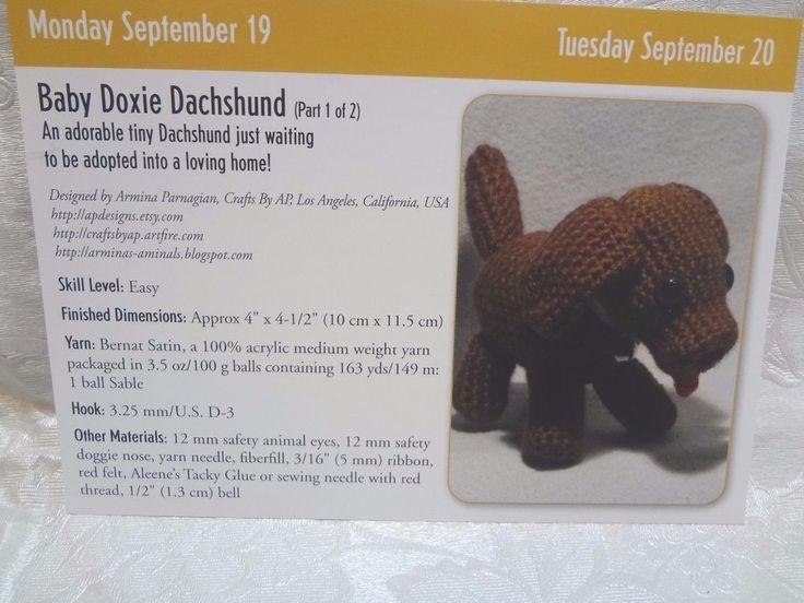 Baby Doxie Dachshund Crochet Pattern