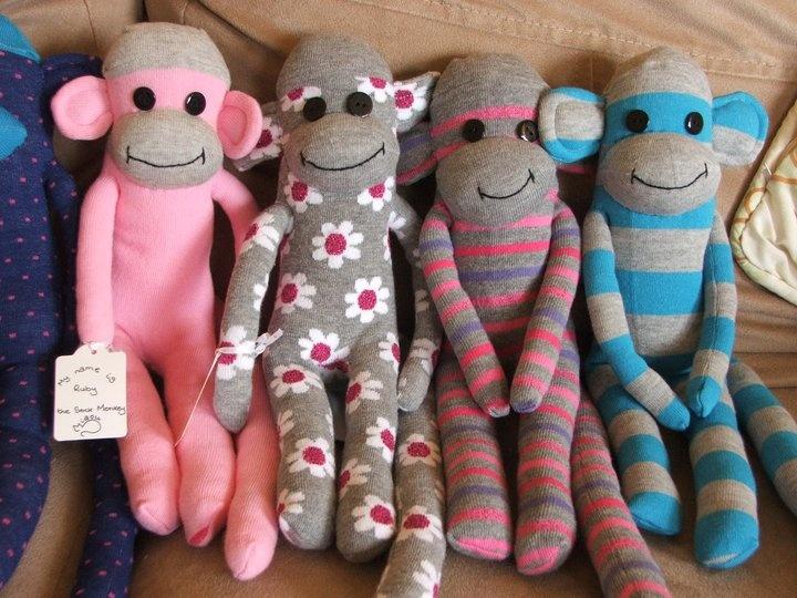 <3  Sock Monkeys by @Jill Noble