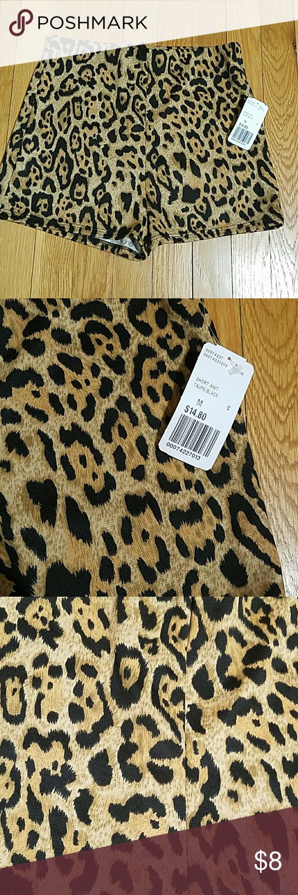 Forever21 Cheetah Shorts NEW W/ TAGS, Stretchy Cheetah Shorts Forever 21 Shorts