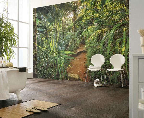 Mural selva en papel pintado barcelona disponible en for Murales de papel pintado