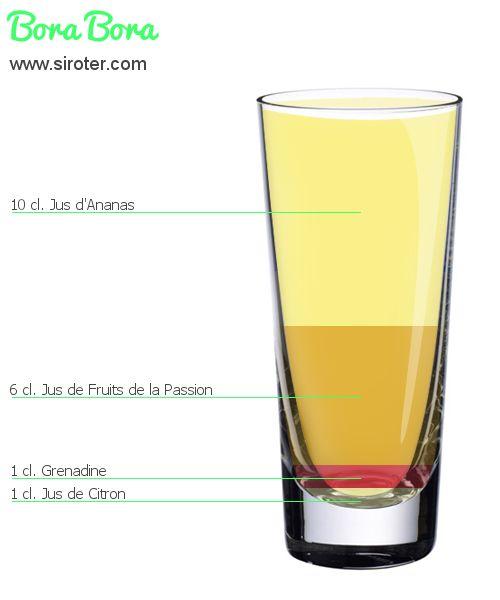 Cocktail Bora bora (sans alcool)
