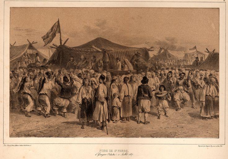 Auguste Raffet - Wallachian traditions: St Peters fair at Giurgiu, 1837