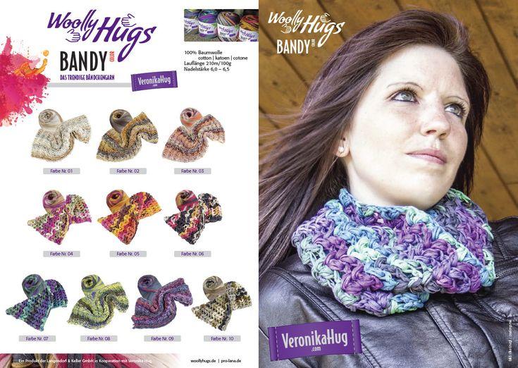 Eur 9,95 / 3.5 Oz Woolly Hug'S Bandy Color 3.5 Oz The Trendy Ribbon Yarn