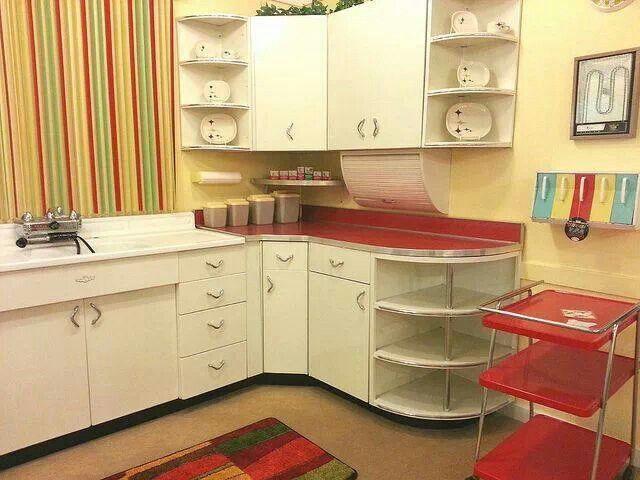 Vintage kitchen red & white