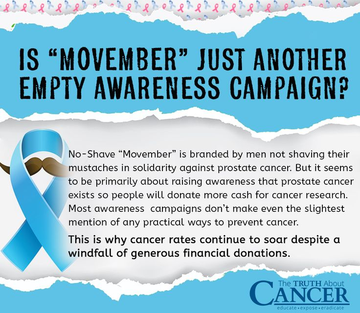 """Cancer is probably the most prominent feature of an ever-expanding awareness blitz, with October's Breast Cancer Awareness Month for women now succeeded by November's No-Shave """"Movember"""" for men. But is """"Movember"""" just a big business scam? Article by Ty Bollinger. Click through to read on and decide for yourself... Please re-pin to support us on our mission to educate, expose, and eradicate cancer! // The Truth About Cancer <3"""