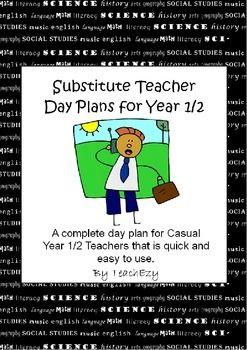 Substitute Teacher Years 1/2 Day Plan