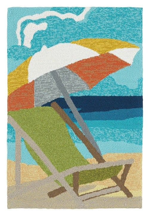colorful beach chair area rug - Colorful Area Rugs