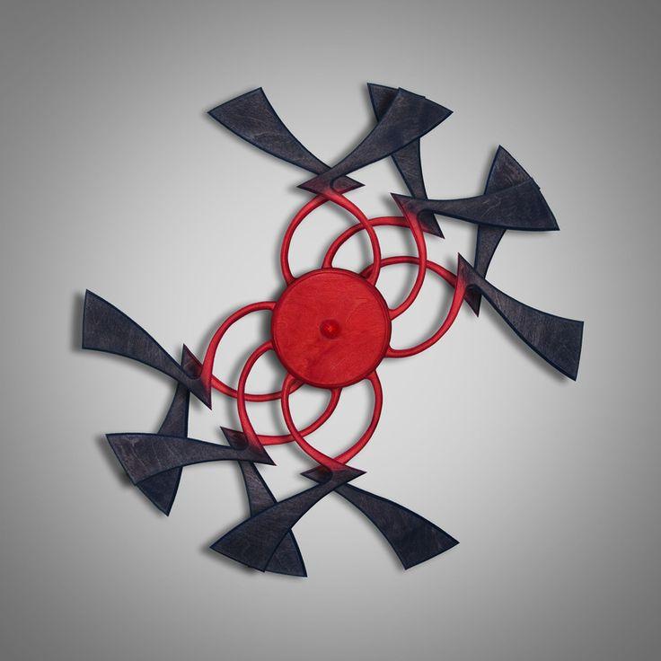 Optical illusion sculpture: Red Hypnotic