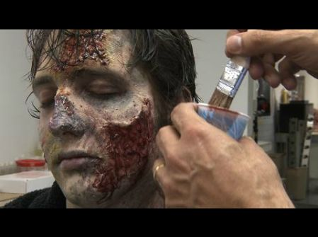DIY zombie makeup tutorial from the special effects artists of The Walking Dead. http://www.wired.com/underwire/2010/10/zombie-makeup-tips/