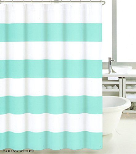 teal striped shower curtain. Max Studio 100  Cotton Shower Curtain Wide Stripes Fabric Turquoise Navy Blue Beige 304 best All you need for the shower images on Pinterest Boating