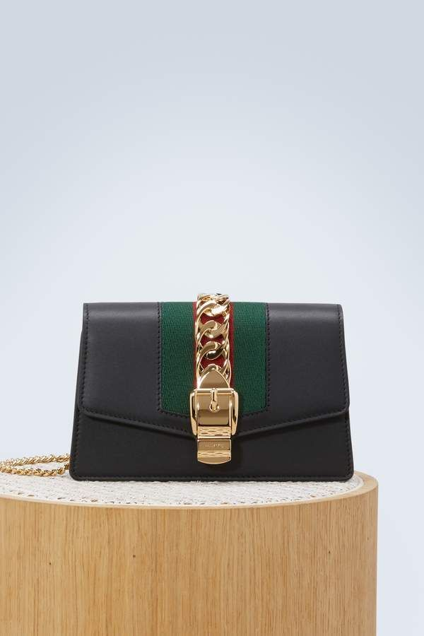 d8dca47fe293 Gucci Sylvie leather mini chain bag #gucci #ShopStyle #MyShopStyle click  link for more information