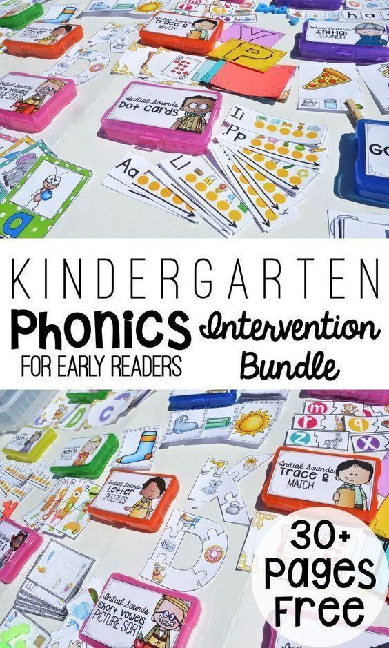 Kindergarten Phonics Bundle for Early Readers