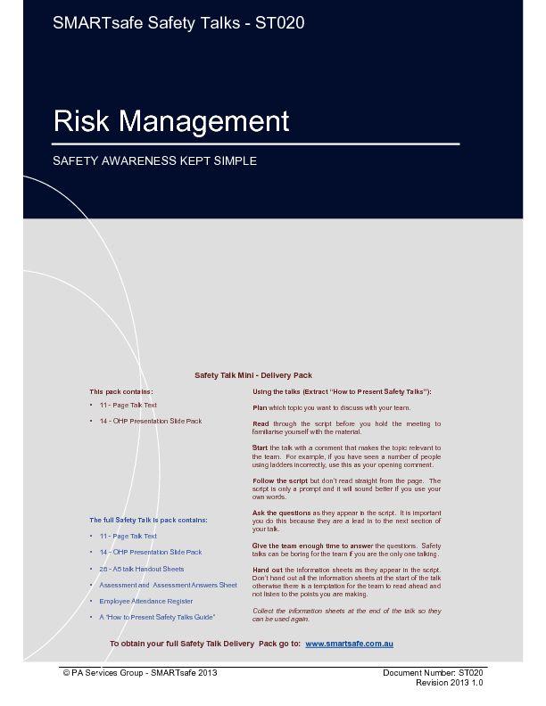Las 25 mejores ideas sobre Risk Management Pdf en Pinterest - risk management plan