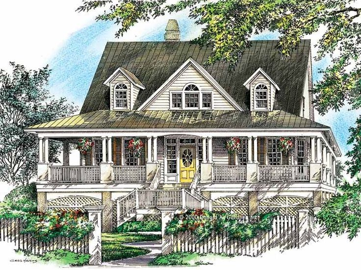 Eplans country house plan wrap around porch captures for Country style house plans with wrap around porches