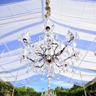 Gorgeous Chandelier for day or night time wedding