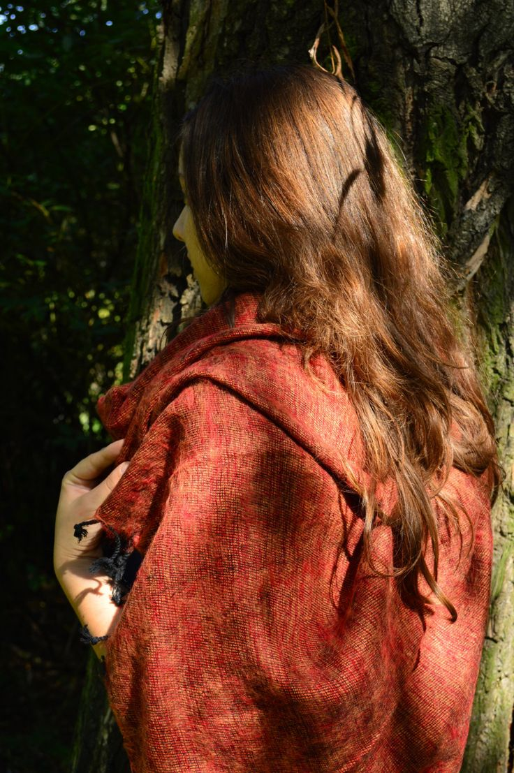 Brick Red - Mayalu Nepalese Shawls by MayaluShawls on Etsy