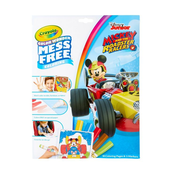 Crayola Color Wonder Mickey Mouse Roadster Racer Coloring ...