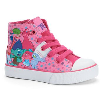 DreamWorks Trolls Toddler Girls' High-Top Sneakers