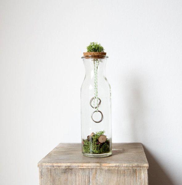 """Ringkissen - Ringkissen - Ringflasche """" Natur """" - ein Designerstück von biine-wedding bei DaWanda"""