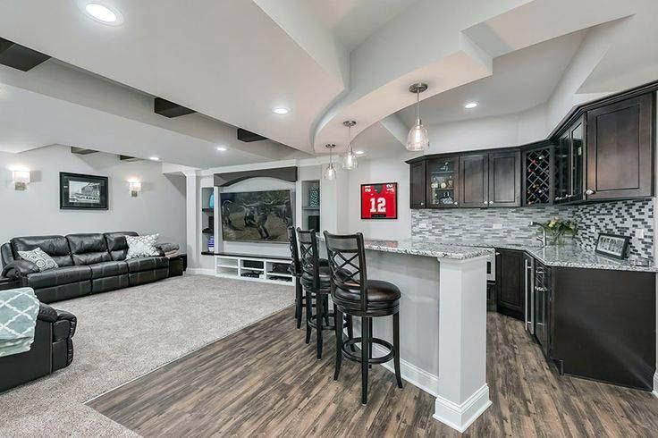 Cool Basement Bar Farmington Exclusive On Homesable Home Decor Renovatebasement In 2020 Small Basement Remodel Basement Remodeling Basement Design
