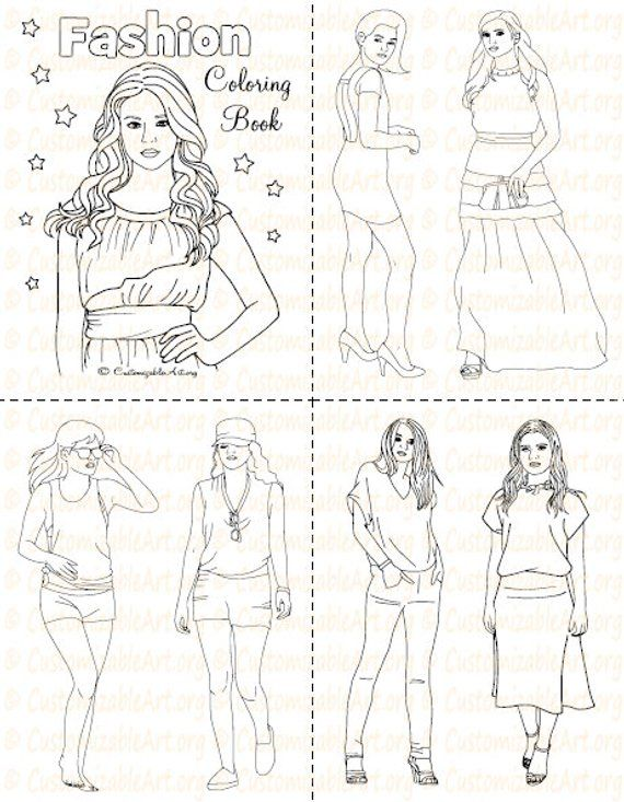 Fashion Coloring Book Printable Fashion Book Girl Women Coloring Pages Sheets Fashionable High Fashion Woman Model Imagesgraphic Digital Pdf Fashion Coloring Book Coloring Books Fashion Books
