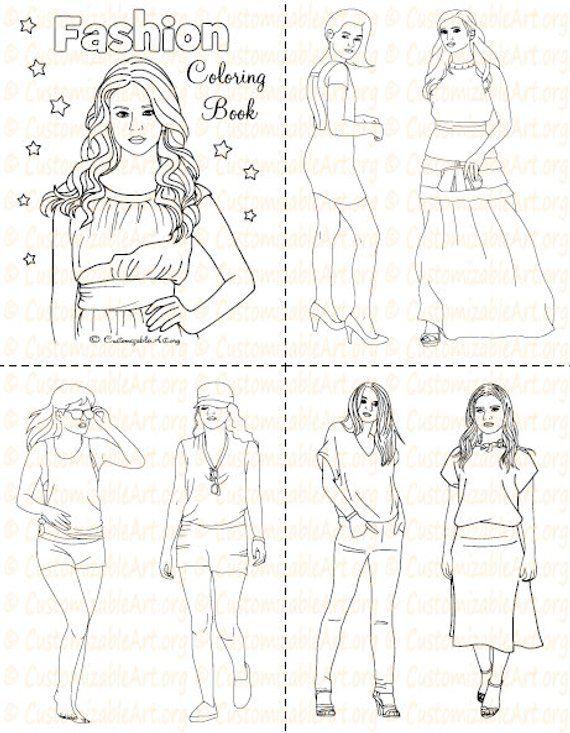 Fashion Coloring Book Printable Fashion Book Girl Women Coloring Pages Sheets Fashionable High Fashion Woman Model Imagesgraphic Digital Pdf Fashion Coloring Book Coloring Books Fashion Books