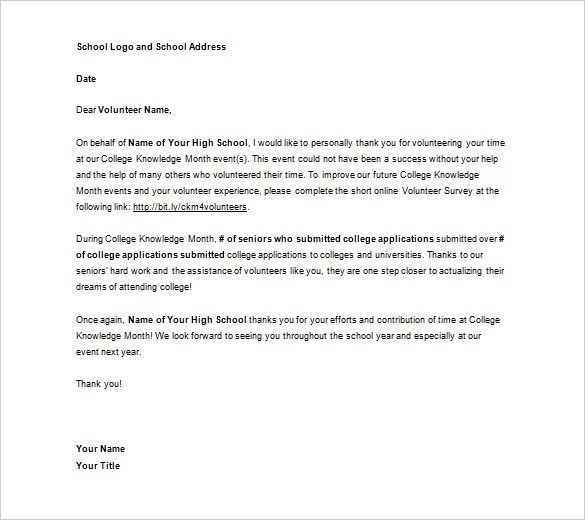 Volunteer Thank You Letter Samples Elegant 15 Volunteer Thank You