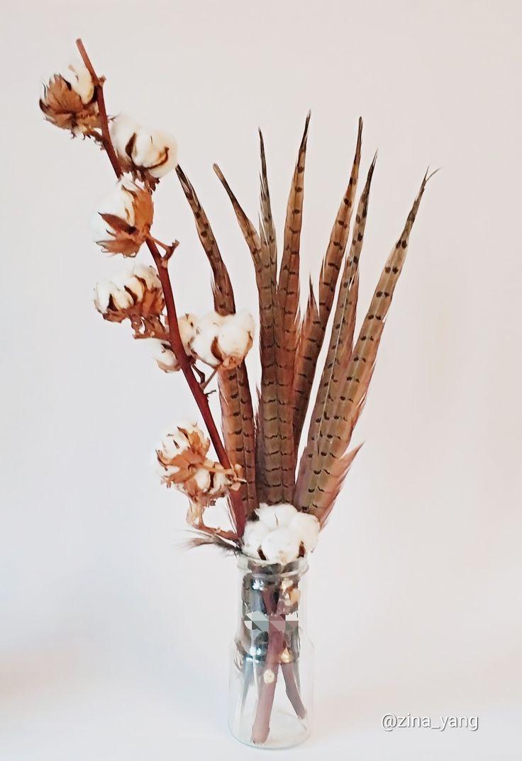 Перья фазана, натуральные перья, коричневые перья, купить перья