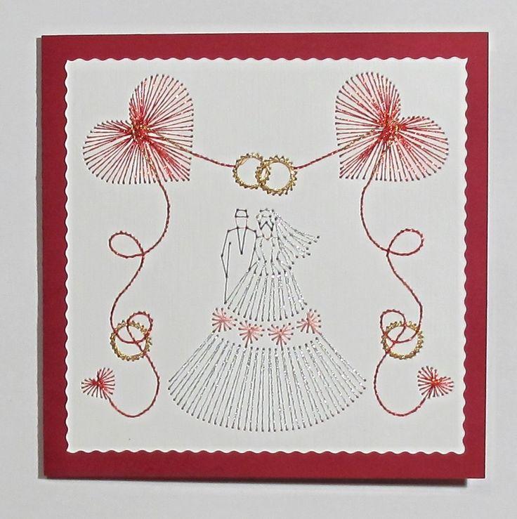 Вышивка на свадьбу открытка, днем рождения