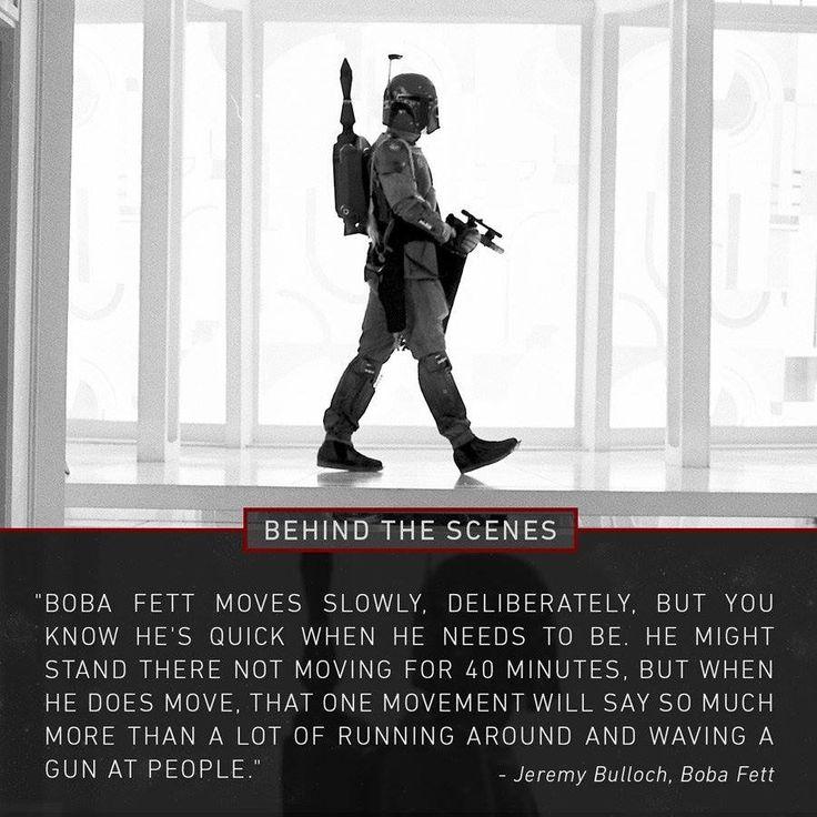 Boba Fett behind the scenes