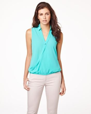 Sleeveless cross-front blouse RW&CO. Summer 2014 Collection