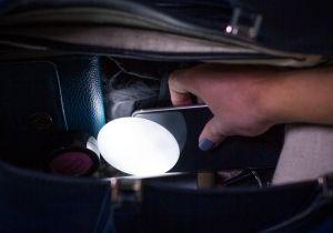 Lumina de geanta -- gaseste acul din carul cu fan.