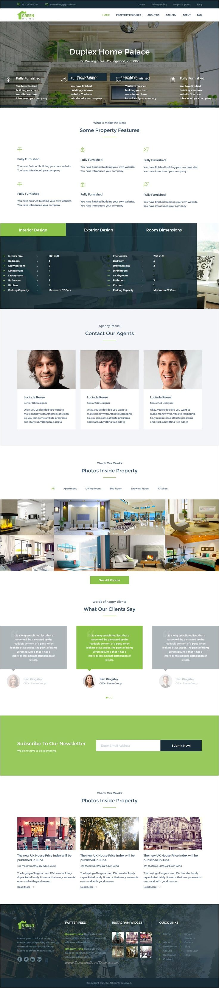 Real Estate Template%0A Green Home  Single Property Real Estate HTML Template