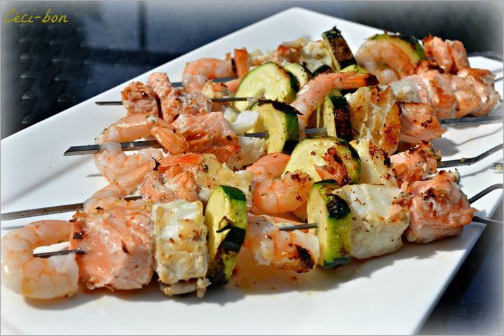 173 best brochettes de poisson crustac s fruits de mer for Poisson a la plancha