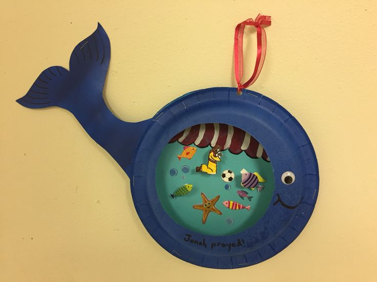 Great Sunday school craft idea for little kids! Teach Jonah and the Whale and use paper plates and stickers to help illustrate this story for your class!