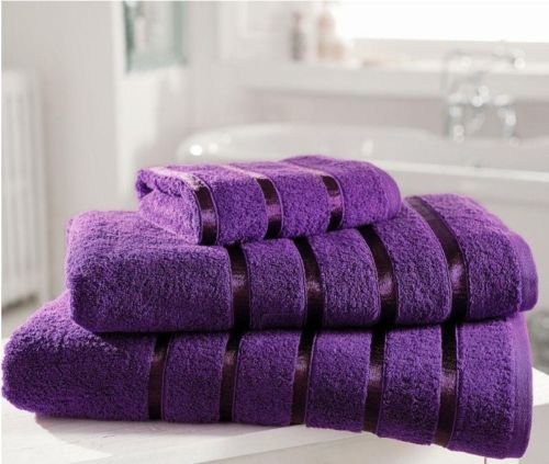 Kensington Egyptian Cotton Stripe Bath Towel Purple 600