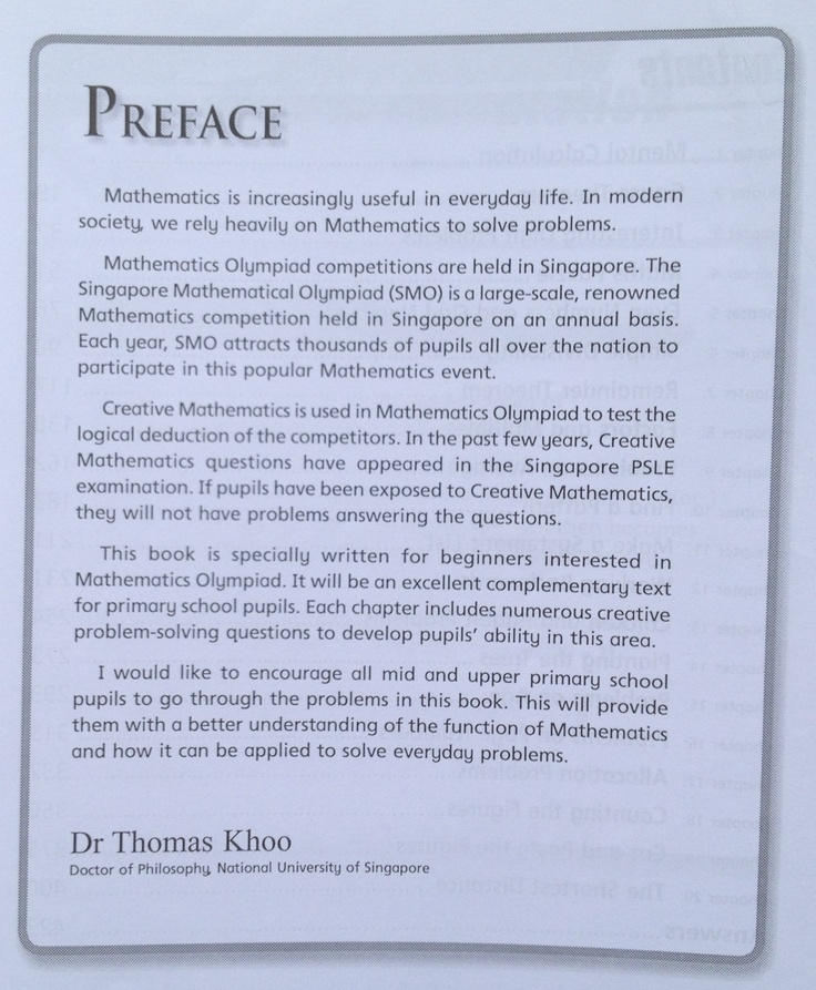 Can You Write A Better Preface Than Dr Thomas Khoo I Bet You Can