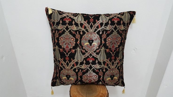 Black Large Pillow Cover Diwan Cushion Case 28x28 inches