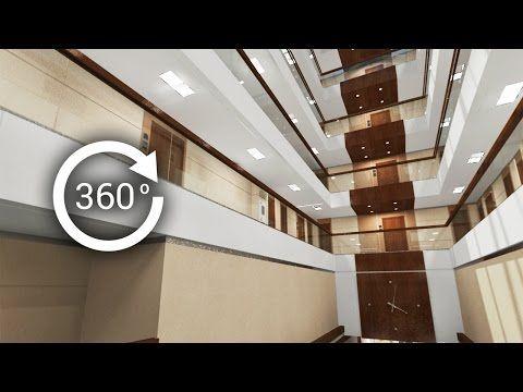 360° - 3D render   Интерьер   Апарт-отель   Атриум. Вид 1 - YouTube