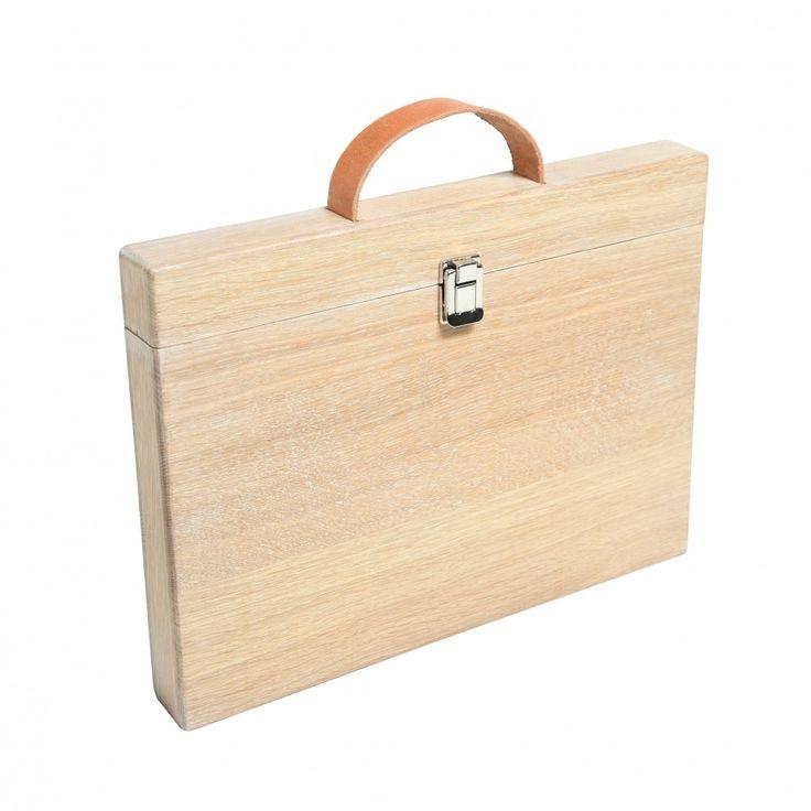 Woodcase Eiken whitewash 15 inch van Studio Jasper | Markita.nl