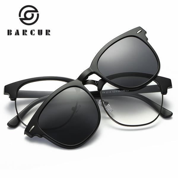TR90 Sunglasses Clip Magnetic Sunglasses Frame With Clip Sun glasses  Include Frame Polarized Clip on Sunglass
